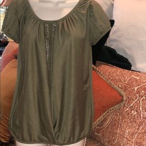 Army Green Pullover Top